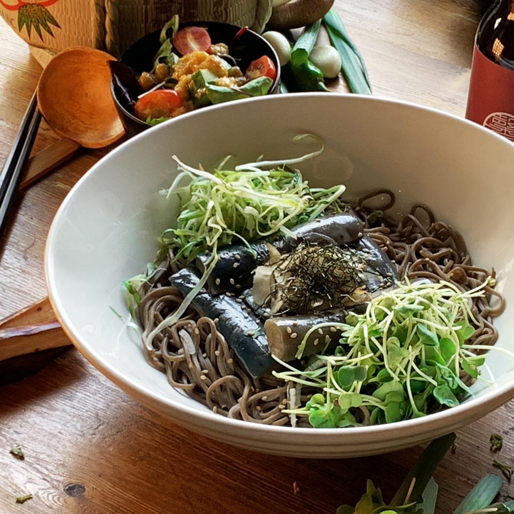 Lunch – Cold Eggplant Ginger Soba